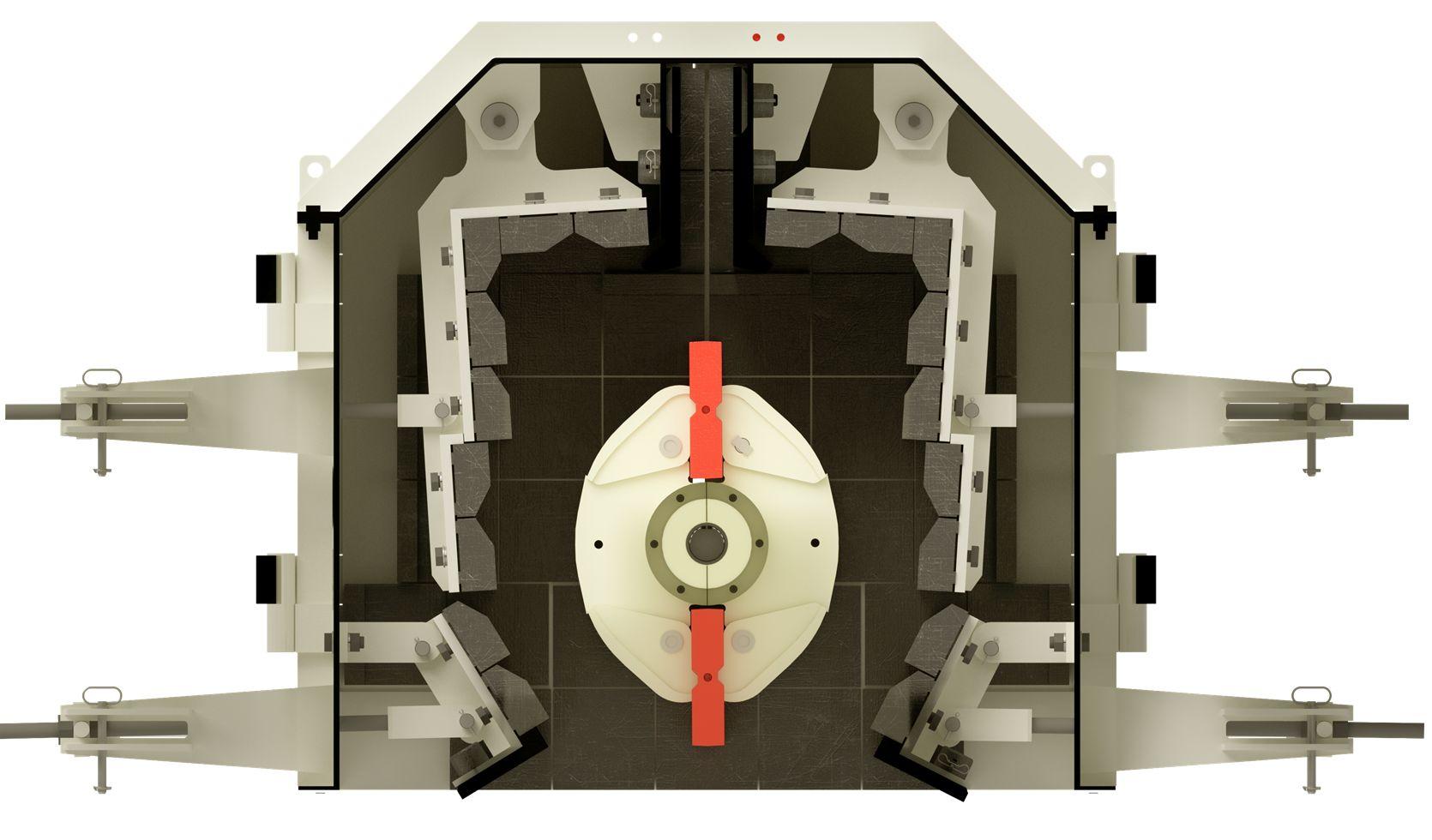 Система дробильных камер роторной дробилки мелкого дробления ARJA Piscis