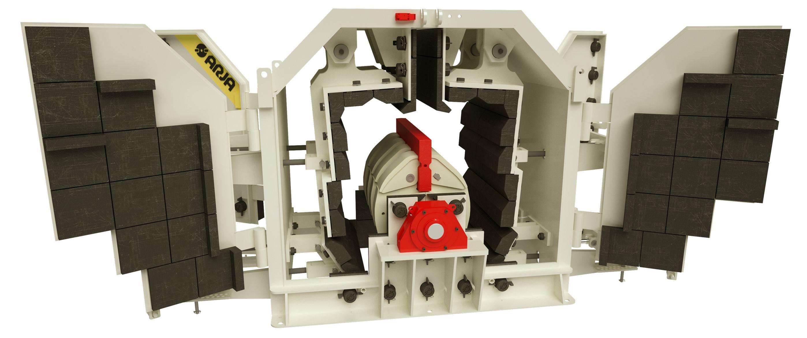 Защита рабочей камеры роторной дробилки ARJA Piscis