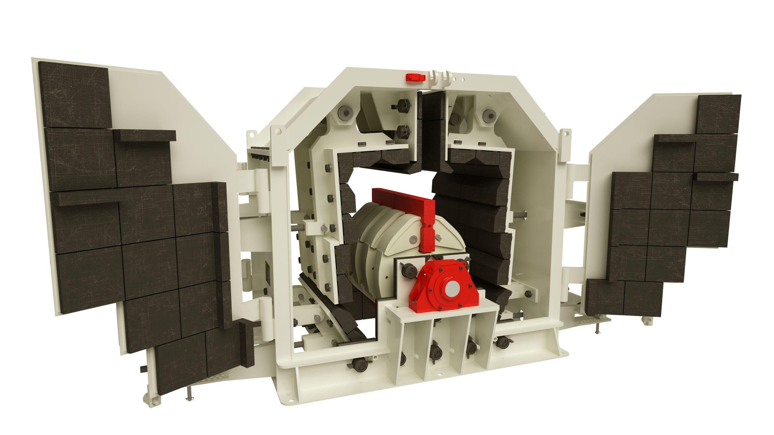 Удобный доступ ко всем узлам роторной дробилки мелкого дробления ARJA Piscis