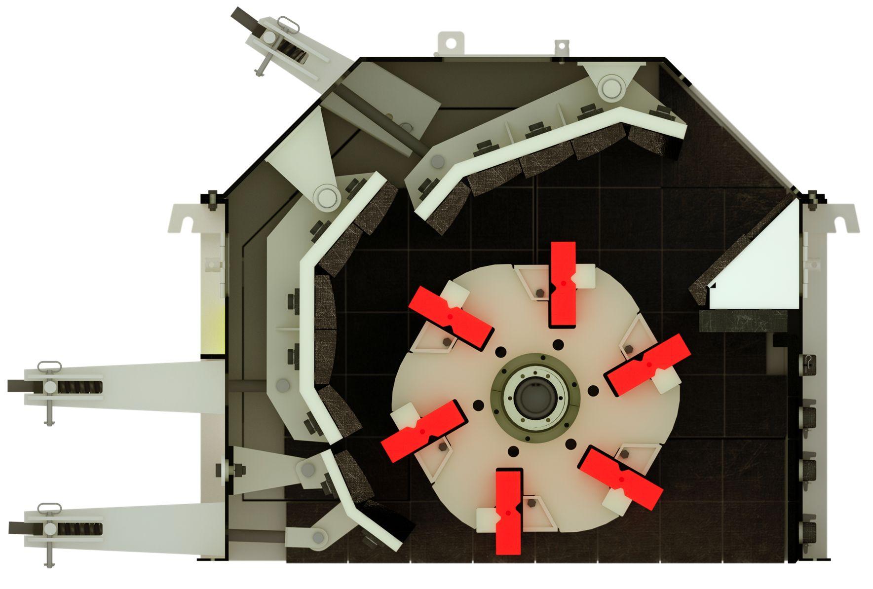 Система дробильных камер роторной дробилки среднего и крупного дробления ARJA Tauro