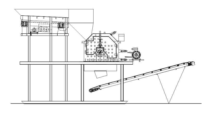 Агрегат дробильный 70-100 т/час