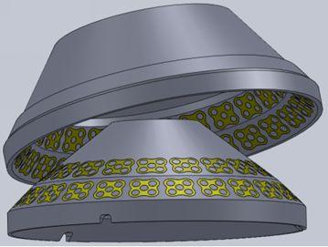 Брони конусов с керамическими вставками