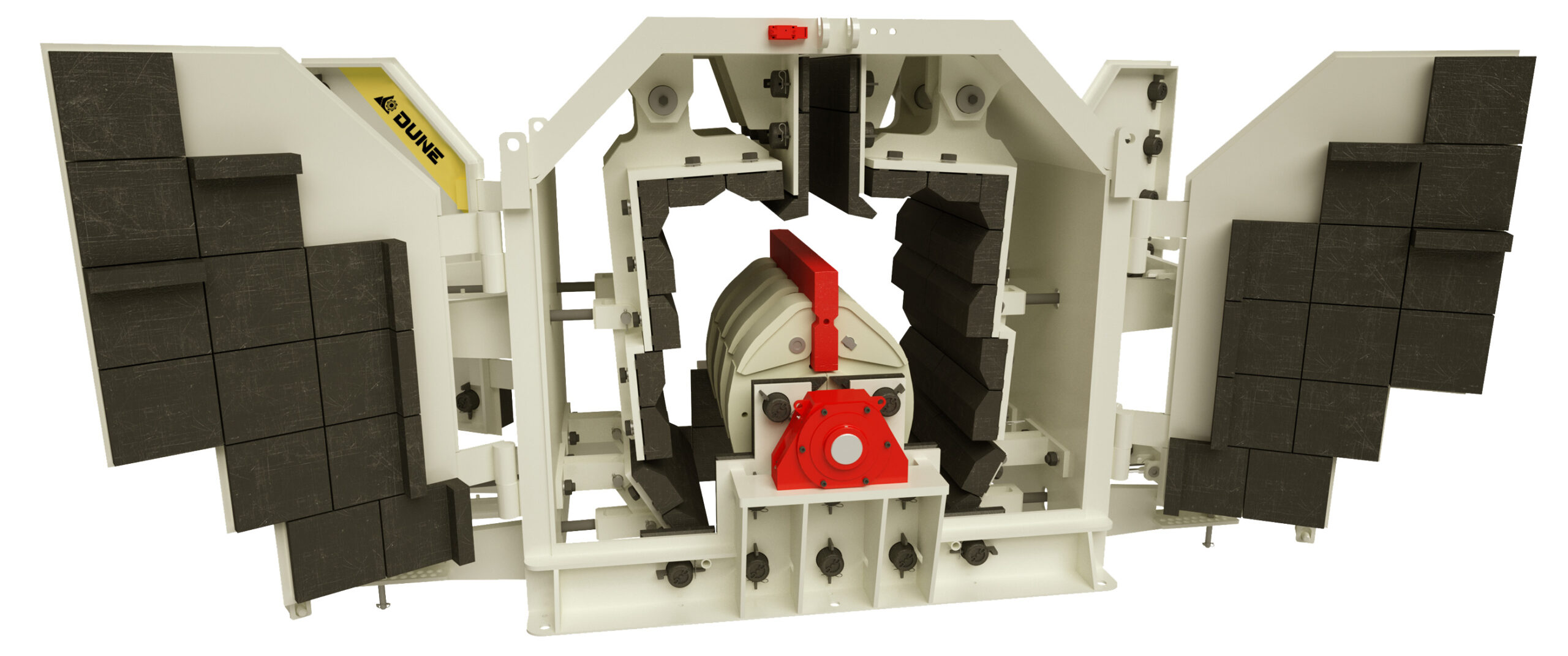 Внутреннее устройство роторной дробилки Dune (Дюна, Piscis)